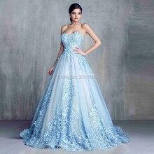 Blau Schatz Sleeveless Weg Schulter Appliques China 2016 Abendkleider Vintage Lange Künstlichen Blumen Party Kleider Benutzerdefinierte