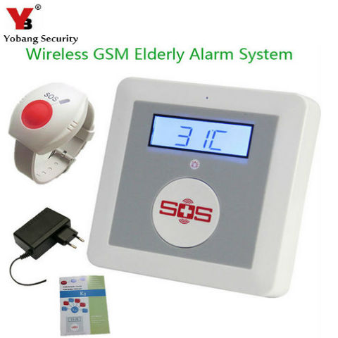 YobangSecurity Wireless GSM SMS Senior Telecare Home Security Alarm System SOS Call for Elderly Care With Emergency Panic Button  цены