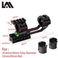 Airgun Rifle Mount 25.4mm /30mm Ring w/Stop Pin 20mm Rail Rifle Scope Mount Weaver Dovetail Rail+20mm to 11mm adapter Scope Rail