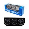 Frete grátis 52mm Kit Triple Electrial (Medidor de Temperatura do óleo + + Voltímetro Medidor De Pressão De Óleo) com Sensor De Carro Auto Gauge YC100002