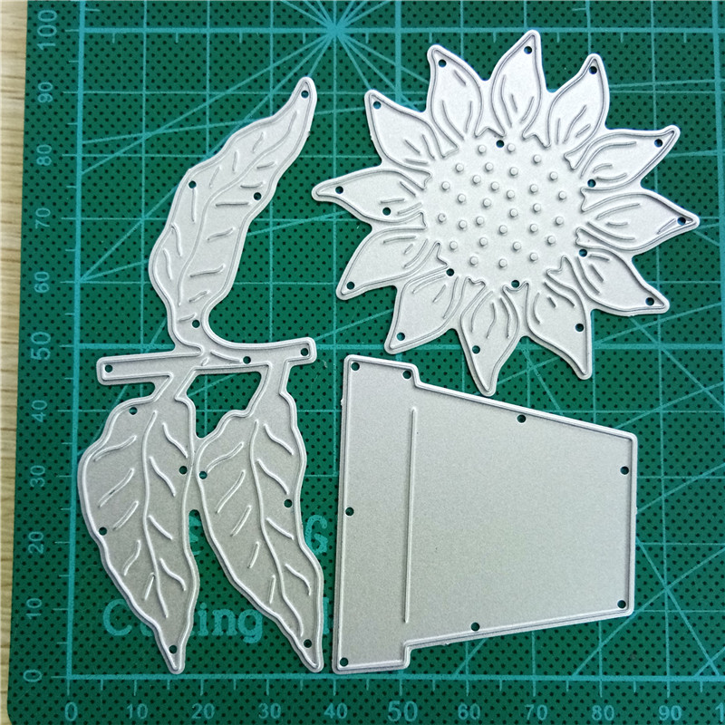 Sun flower Lace Metal Cutting Dies Stencil Scrapbooking Paper Card Embossin Chic