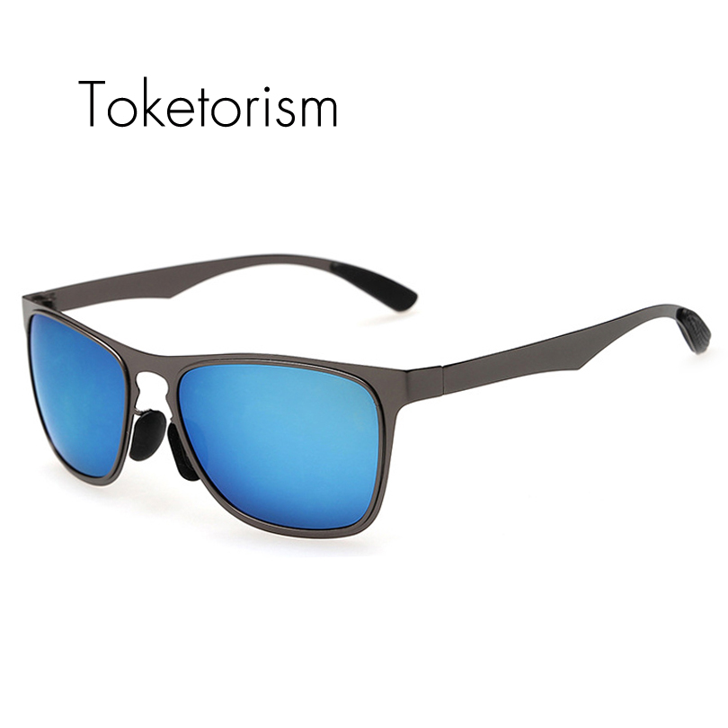 Toketorism High font b Fashion b font Mountaineering sunglasses Stainless steel Ultralight frame font b polarized
