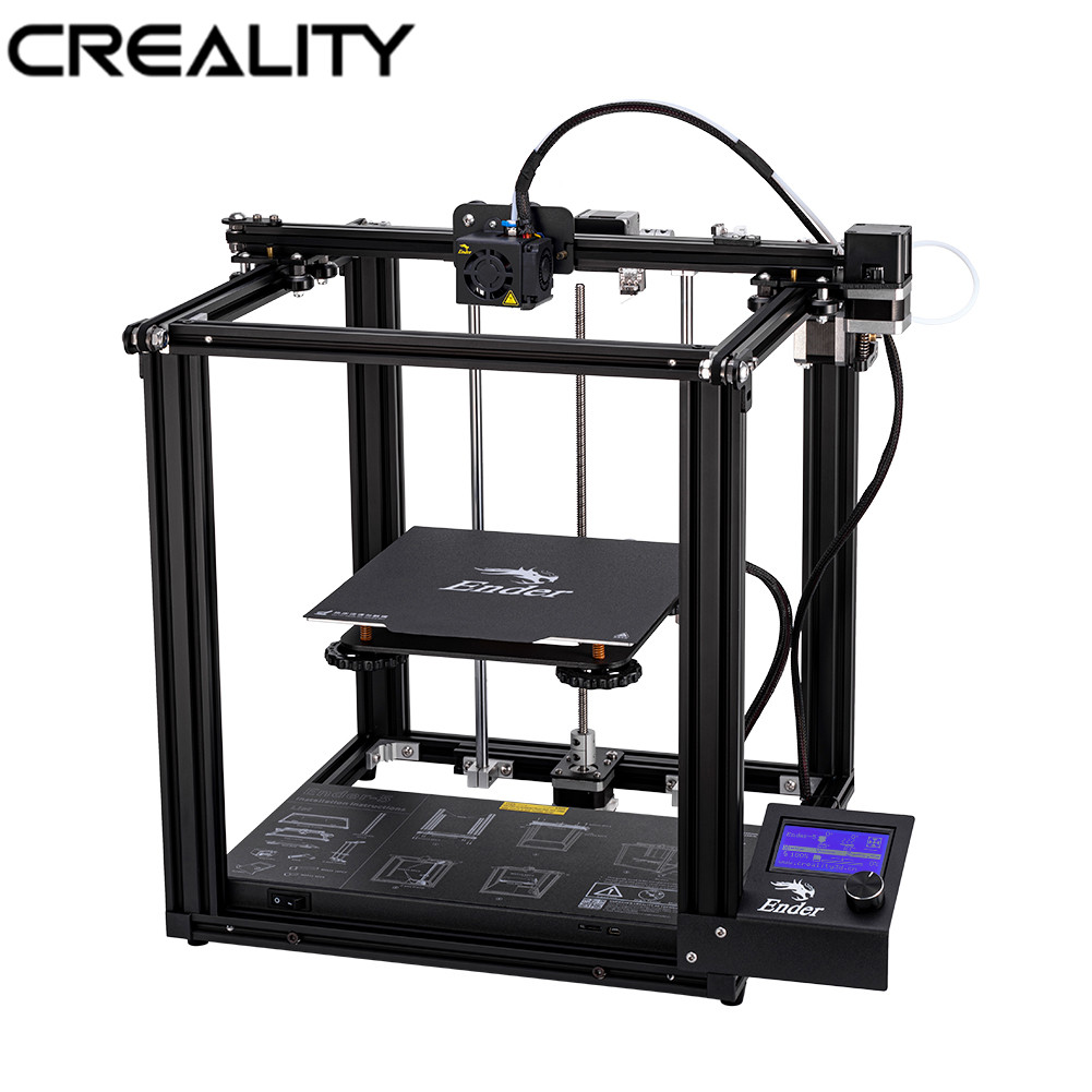 Imprimante à Ender-5 3D CREALITY originale double axe Y Core-XY Structure fermée V1.1.4 carte mère intégrée alimentation de marque