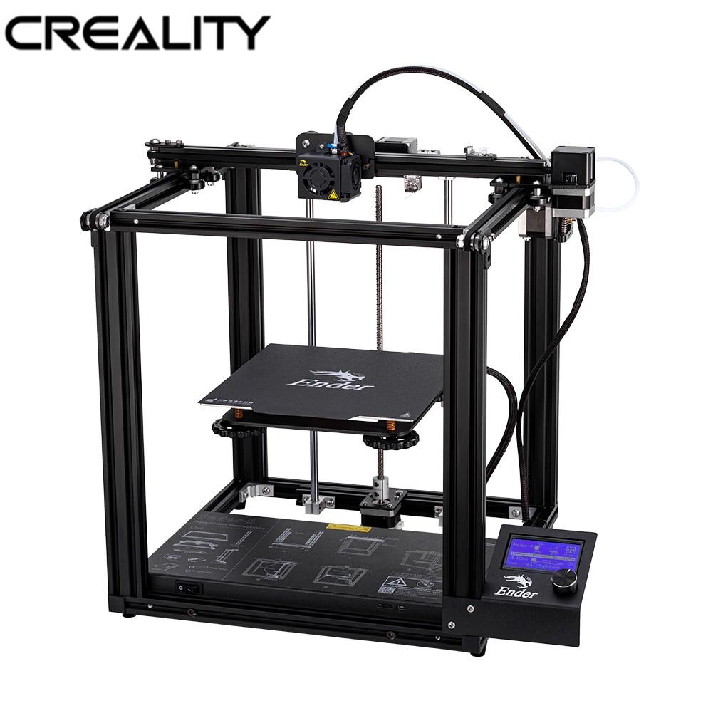 Original CRIATIVIDADE 3D Ender-5 Impressora Dual-Eixo Y Core-XY Estrutura Fechada V1.1.4 Mainboard Embutido marca fonte de alimentação