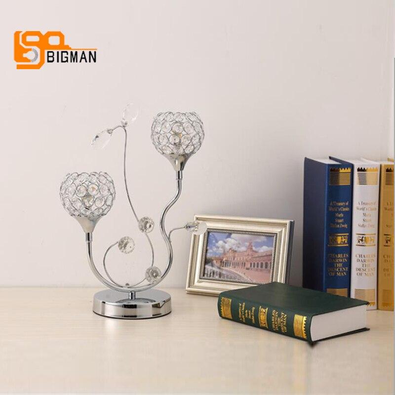 New Design K9 Crystal Bedroom Table Lamps Modern Table Docoration Lighting  Dia30*H36cm Lustre Cristal