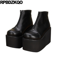 Fashion 10 Plus Size Shoes Platform Ankle Muffin 12 44 Waterproof Custom Fetish Black Brand Women Winter Boots Genuine Leather