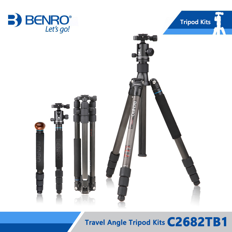 Benro C2682TB1 ขาตั้งกล้องคาร์บอนไฟเบอร์ขาตั้งกล้อง Monopod สำหรับกล้อง B1 หัวกระเป๋าถือโหลดสูงสุด 12 กก.DHL จัดส่งฟรี-ใน ขาตั้งกล้องถ่ายทอดสด จาก อุปกรณ์อิเล็กทรอนิกส์ บน AliExpress - 11.11_สิบเอ็ด สิบเอ็ดวันคนโสด 1