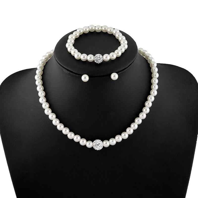 2017 New Korean Jewelry High-grade Imitation Pearl Necklace Matching Bridal Jewelry Sets Parure Bijoux Femme