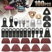 100PCS Oscillating Saw Blades Multi Tool Accessories Kit For FEIN BOSCH MAKITA 10 88mm Industrial tool
