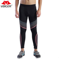 Vbiger Compression Pants Soft Athletic Leggings Quick Dry Sports Tights For Men Stretchy Waistband