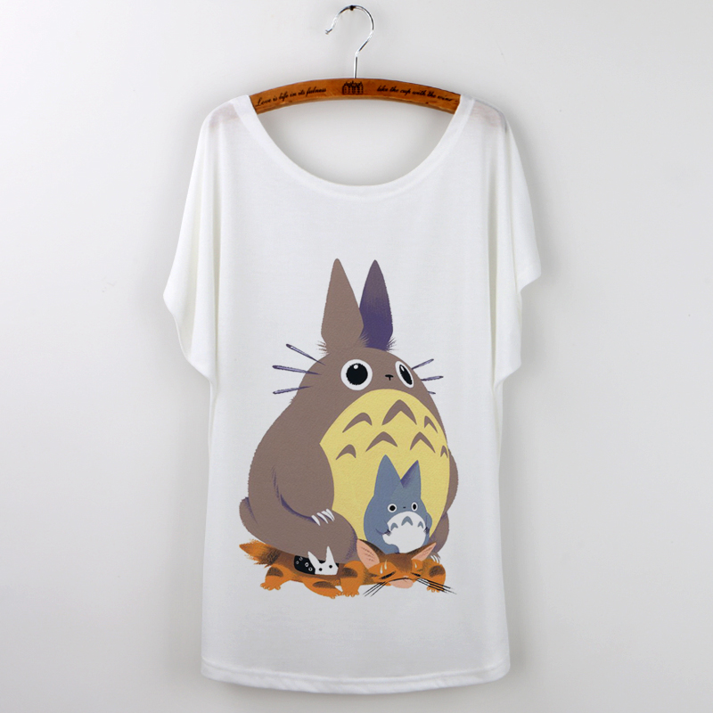 Cartoon Totoro T Shirt Women Print harajuku 2017 Fashion ...