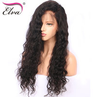 Elva Hair Glueless Lace Front Wigs 130 Density Brazilian Natural Wave Remy Hair 100 Human Hair