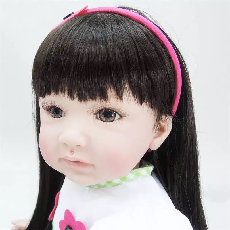 где купить 55cm Doll Silicone Reborn Handmade Realistic Baby Dolls 22 Inch Vinyl Bebe Reborn Babies Toys Children Birthday Gifts дешево