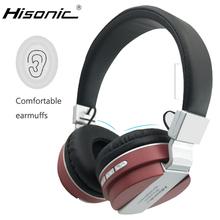 Hisonic juego plegable auriculares micrófono auriculares bluetooth inalámbrica de música estéreo bluetooth headset auriculares auriculares inalámbricos