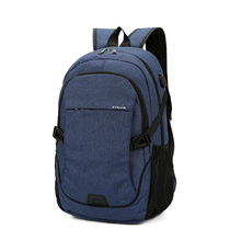2019 New Mens Backpack Canvas Breathable Business Laptop Bag Solid Color Student Waterproof Leisure Outdoor Travel