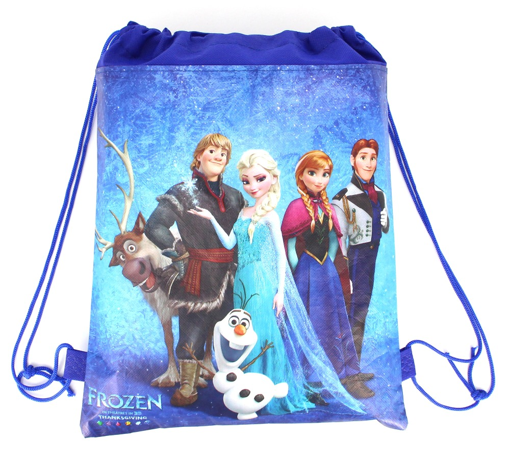 20Pcs/Pack Disney Frozen Party Loot Bag Backpacks  Girls Happy Birthday Favors Party  Supplies