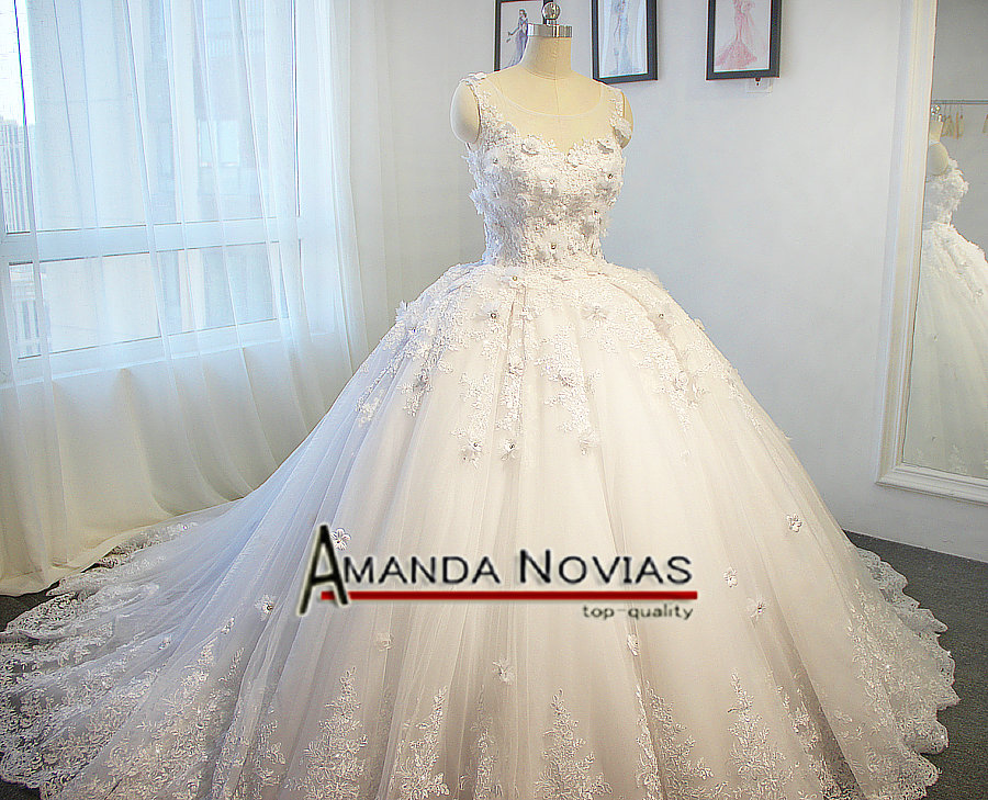 2017 Amanda Novias 100 Real Wedding Dress Princess Puffy Ball Gown In Dresses From Weddings Events On Aliexpress Alibaba