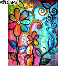 DIAPAI 100% Full Square/Round Drill 5D DIY Diamond Painting Flower painting Embroidery Cross Stitch 3D Decor A19176