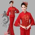 2016 venda tempo limitado poliéster mulheres chinês antigo chinês trajes de roupas de dança Yangko