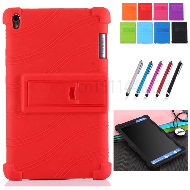 New Thickening Shockproof Back cover For Lenovo TAB 3 8 Plus 8703x TB-8703F TB-8703N P8 8.0 TAB3 TB-8703 child Silicone case чехлы для планшетов cross case чехол el для lenovo tab 3 8703x 8 0 plu