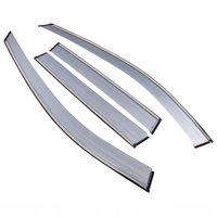 4pcs Set Car ABS Rain Guard Window Sun Shade Visor Wind Strip Deflector Fit For Toyota