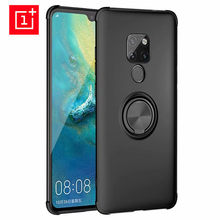 Oneplus 6 Case Finger Ring Holder Soft Matte Silicone Back Cover For One Plus 6 6T Phone Case Oneplus6 Skin Housing(China)