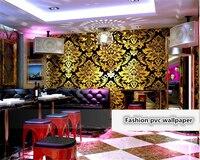 beibehang KTV papel de parede Wall paper 3D Stereo Personality Fashion Flash Fancy Ballroom Theme Room Wallpaper papier peint