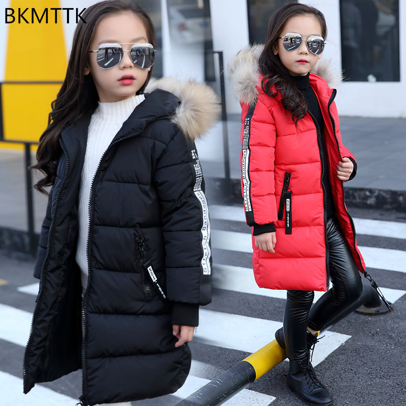 The girl in the long coat 2017 new winter coat female child child Princess winter digital SC girl child betrothal and human capital formation in ghana saboba