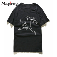 Magiray Harajuku Letters Print T Shirt Women Punk Rock Female T Shirt Top Summer 2017 Short