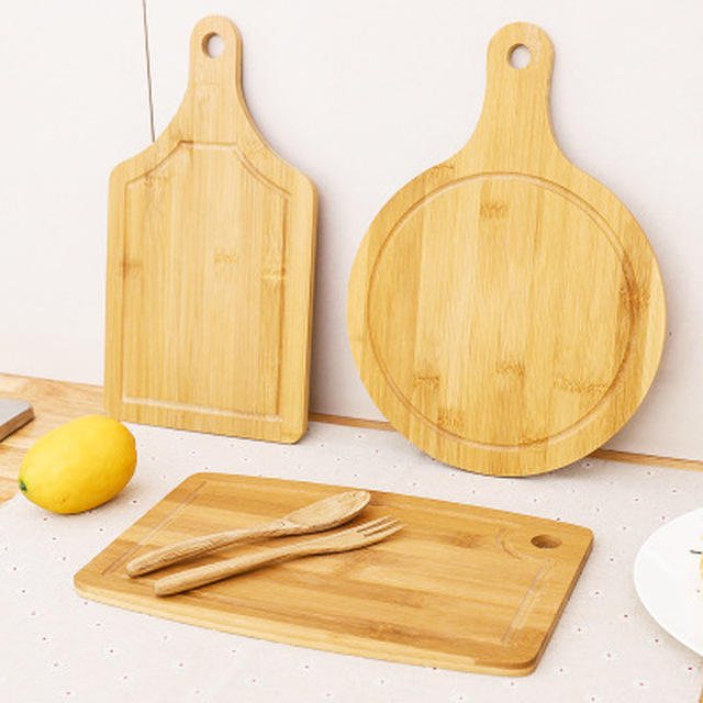 Forma Setor quadrado Redondo Tábua de Queijos Em Miniatura Placa De Corte De Bambu Dobro Sides Disponível Bandeja De Bolo De Frutas Blocos de Cozinha