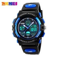 2016 SKMEI marca niños moda relojes LED Digital de cuarzo reloj niño y una niña estudiante impermeable de múltiples funciones de pulsera
