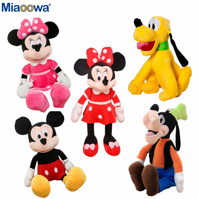 5Styles 40cm Cute Mickey minnie Mouse Goffy Pluto Plush Toys Stuffed Cartoon Toys for Kids Baby Classic Children Birthday Gift
