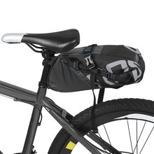 ROSWHEEL Waterproof Bicycle Saddle Bag Bike Storage Bag Cycling Backseat Pack Portable Rear Seat Tail Pack bicycle Accessories