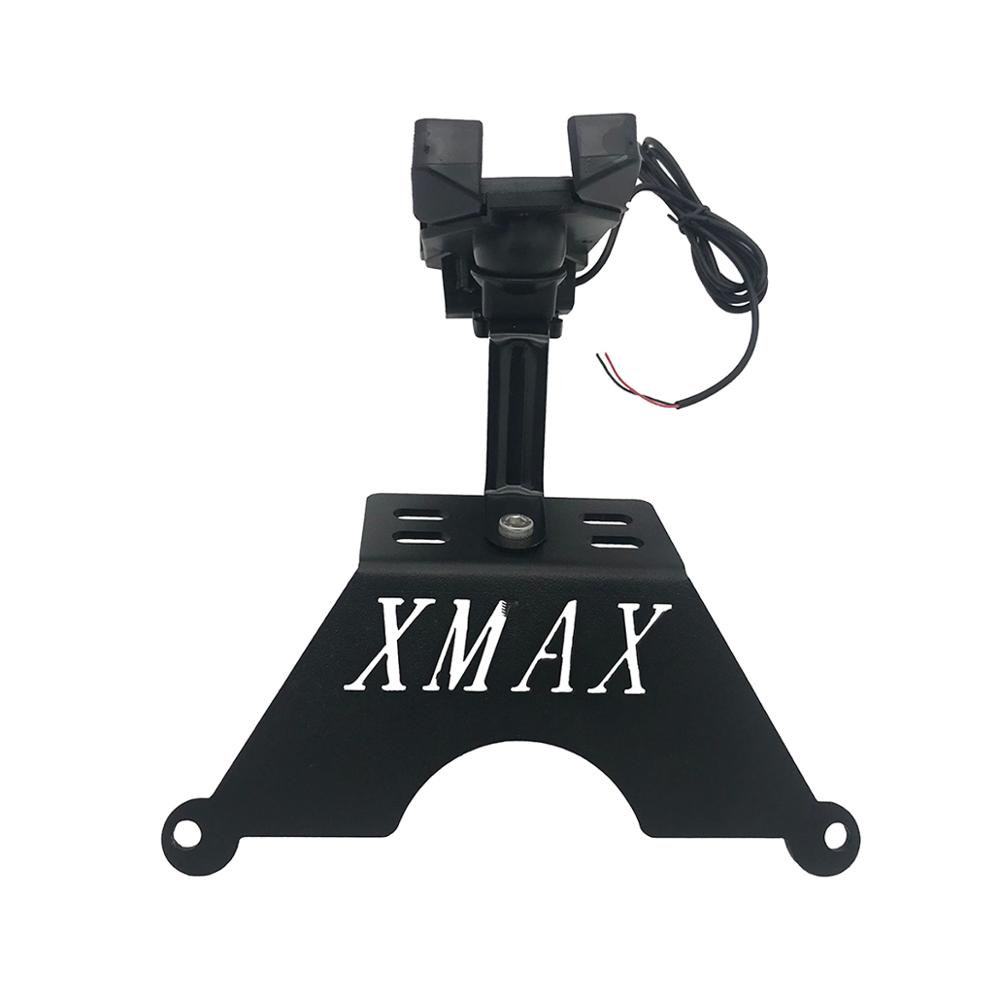 For Yamaha XMAX Phone Holder XMAX250 XMAX300 Stand Holder Smartphone Phone Holder Stand GPS Navigator Plate Bracket
