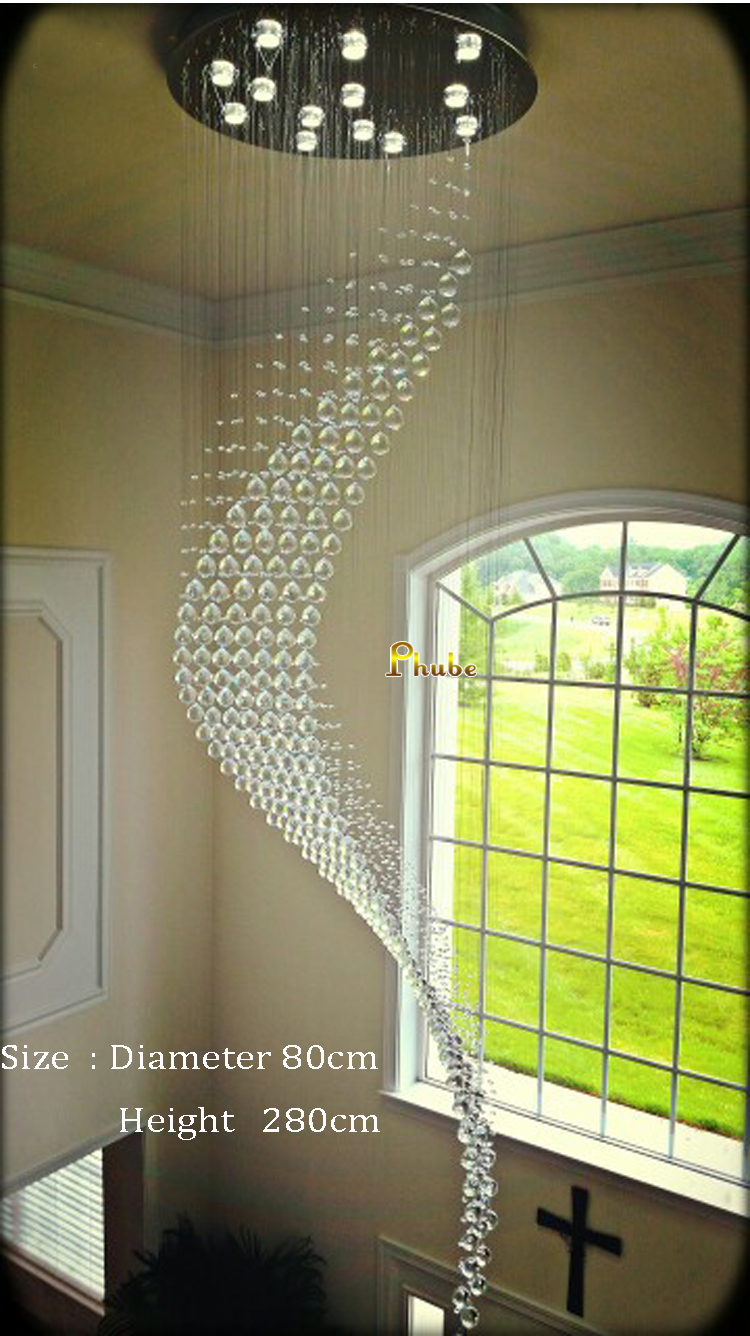 Duplex building stair crystal chandelier villa foyer large duplex building stair crystal chandelier villa foyer large chandeliers light lighting dolphin shape free shipping in chandeliers from lights lighting on aloadofball Gallery