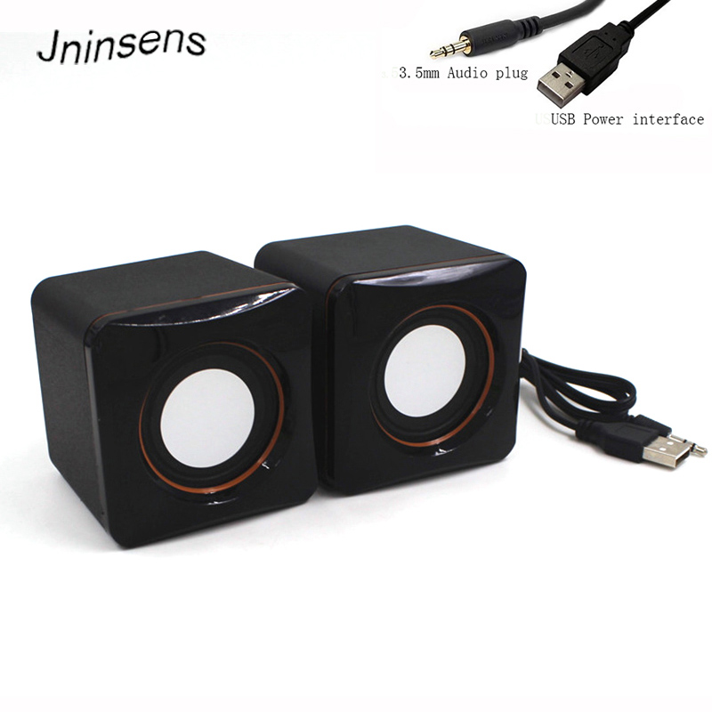 2018 Mini Portable Plastic Wired USB Audio Square Music Player Speaker for iPhone For iPad MP3 MP4 Laptop PC Computer