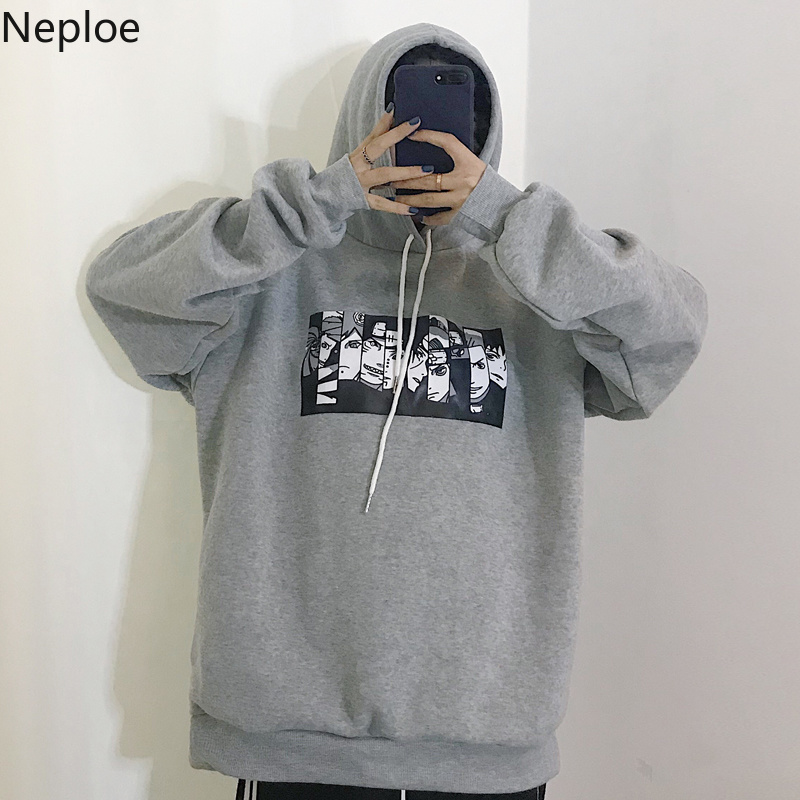 Neploe 2019 Korean Fleece Sweatshirt Woman Causal Hoodies Harajuku Cartoon Cosplay Hoodie Tops Spring Auntum Sudaderas 38444(China)