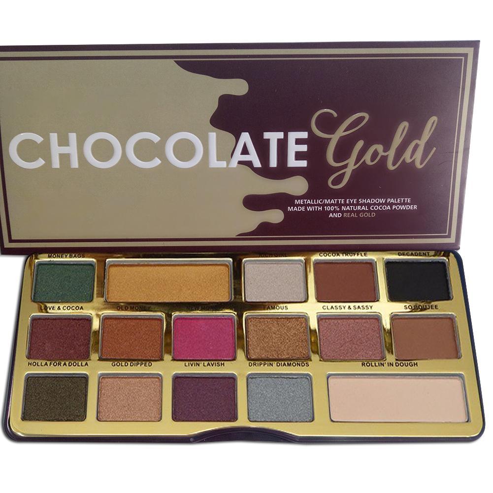 Professionelle Augen Make-Up Schokolade Gold Highlights Lidschatten Palette 16 Farben Wasserdicht langlebige Lidschatten Make-Up Palette