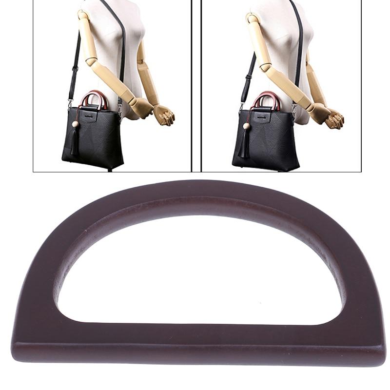 1Pcs Wooden Bag Handle Replacement For DIY Purse Making Handbag Shopping Tote