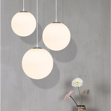 Modern Nordic Pendant Light LED White Glass Bubble Ball Hanging Lamp For Living Room Kitchen Luminaire home lighting Fixtures(China)