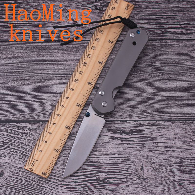 Mini 21th Anniversary Tactical hunting folding knife D2 blade Titanium handle camping survival pocket knives outdoor