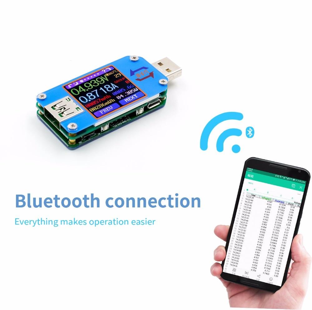 UM25 UM25C for APP USB 2.0 Type-C LCD Voltmeter ammeter voltage current meter battery charge measure cable resistance Tester