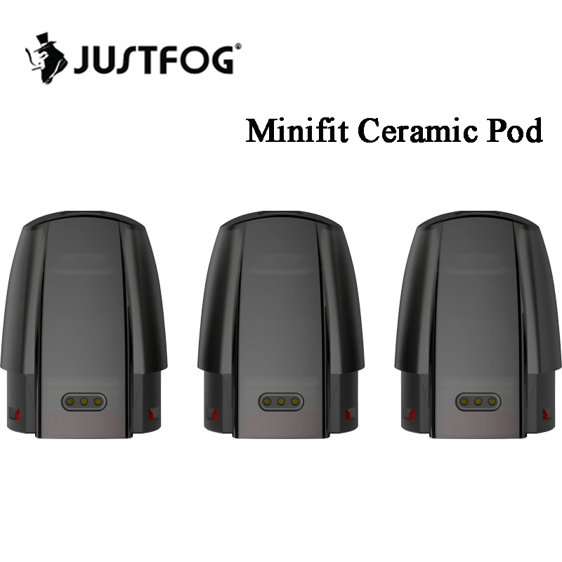 3~30pcs Justfog Minifit Ceramic Pod Cartridge 1.5ml With 1.6ohm Coil For JUSTFOG Minifit Pod Vape Kit  Refillable Cartridge