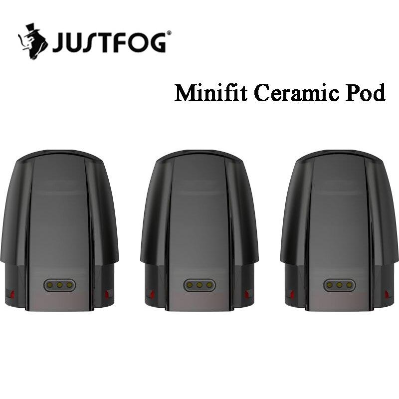 3~30pcs Justfog Minifit Ceramic Pod Cartridge 1.5ml With 1.6ohm Coil For JUSTFOG Minifit Pod Vape Kit  Refillable Cartridge