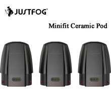 3 sztuk Justfog Minifit ceramiczne wkładem o 1 5ml z 1 6ohm cewki dla JUSTFOG Minifit Pod zestaw do e-papierosa wkład wielokrotnego napełniania tanie tanio Justfog Minifit Ceramic Pod Cartridge Plastic Wymienne Fit for Justfog Minifit Kit 3pcs pack
