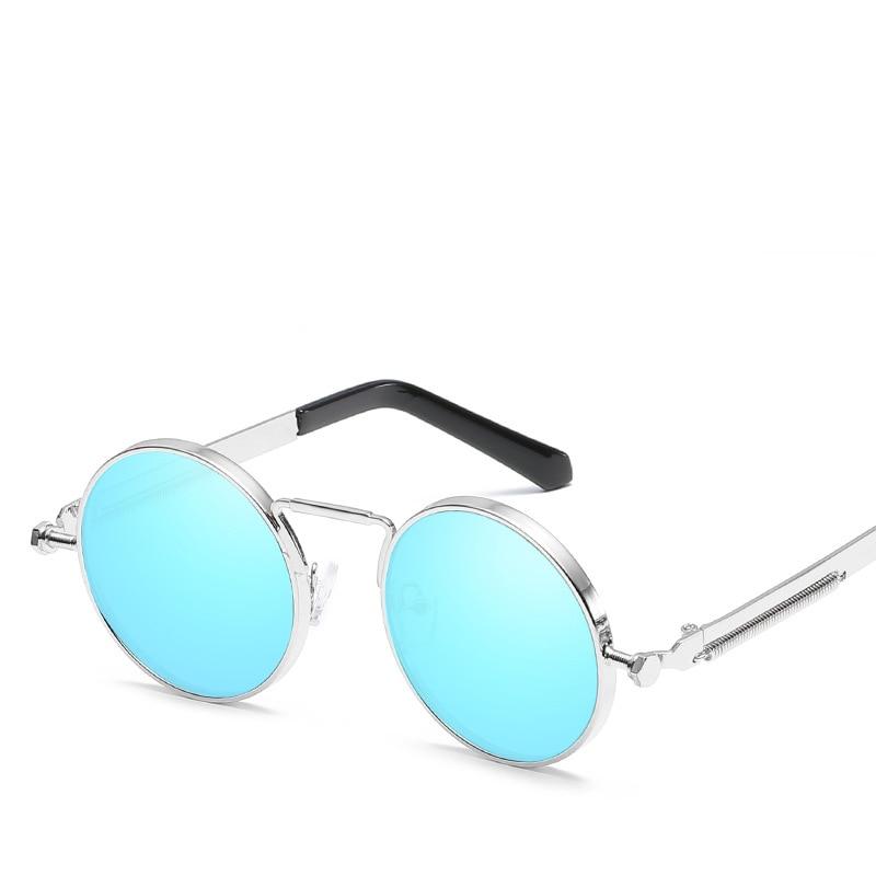 Vintage Round Sunglasses Women Men Steampunk Goggles Retro Gold ...