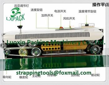 Lowest Factory Price continuous plastic bag band sealer plastic film sealer food bag heat sealermachine press date code