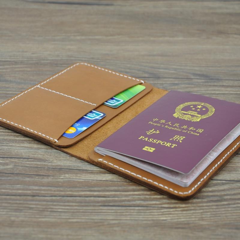 New Fashion Passport Cover 2016 Famous Designer Brand Handmade Credit ID Card Holder Handmade Genuine Leather Passport Cover famous brand new passport card holder