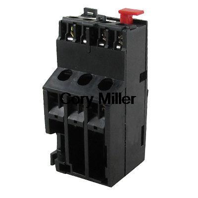 Motor Protection 0.63-1A 3 Poles Thermal Overload Relay 1 NO 1 NC 2 pin thermal overload protection