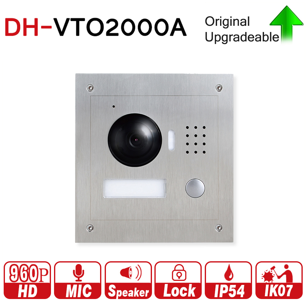 DH VTO2000A 1.3MP Video Door Phone POE P2P Metal Villa Outdoor Station Remote Intercom Night Vision with logo DH-VTO2000A dh vto2000a 1 3mp video door phone poe p2p metal villa outdoor station remote intercom night vision with logo dh vto2000a